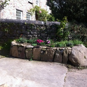 Planter built up to make gardening easy.