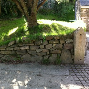 Small hedge to form a gateway.
