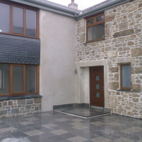 This job was a bit of a showcase of different applications of lime creating a contemporary look.