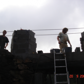 Building above the reinforced section. 