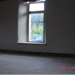 Here you can see the continuation of the conduit and a lovely lime finish around and original window.
