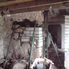 Blocks used as an internal wall.