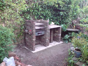 Marble tops found on site And a nice little beer shelf formed in slate