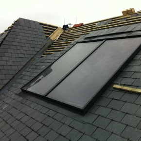 Flush solar panels were also installed.