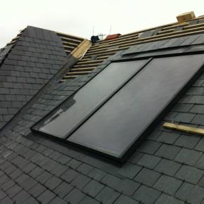 Flush solar panels were also installed.