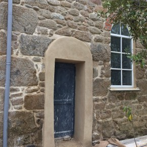 surround for church door hand formed in lime