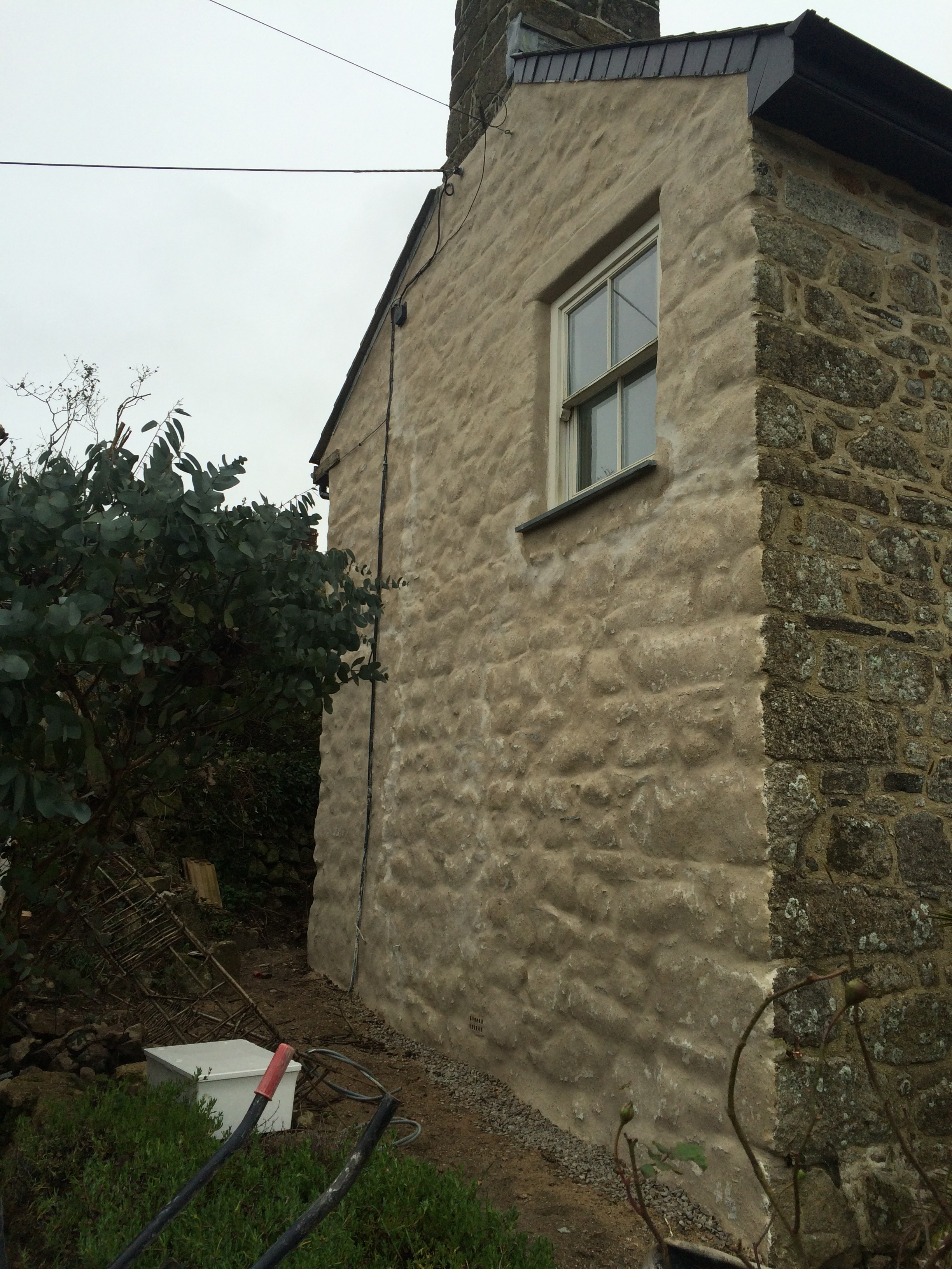 curing damp issues with lime render