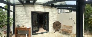 conservatory baggrubb rendered in lime